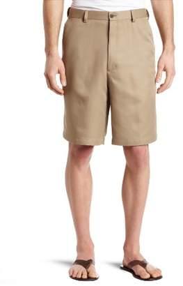 Haggar Men's Big-Tall Cool 18 Gabardine Hidden Expandable Waist Plain Short