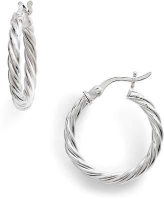 Argentovivo Rope Hoop Earrings