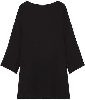 The Row Tharpe Oversized Cady Mini Dress - Black