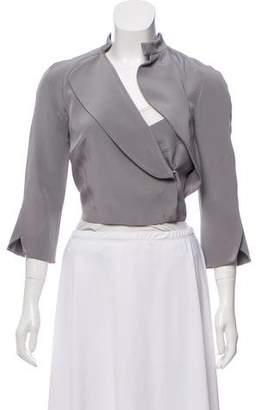 Antonio Berardi Silk Cropped Jacket