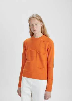J.W.Anderson Multi Pocket Crewneck Sweater Tangerine