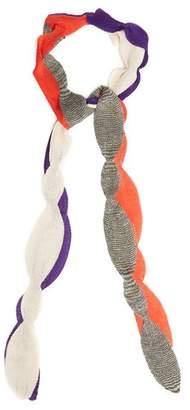 Missoni Scallop Edged Fine Knit Scarf - Womens - Multi
