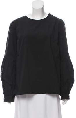 Creatures of Comfort Button-Accented Long Sleeve Top