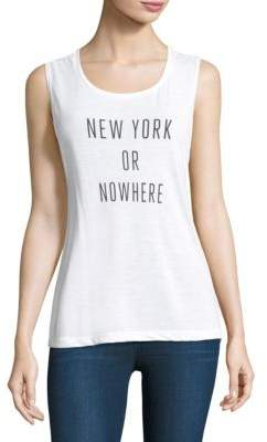 Knowlita New York Or Nowhere Graphic Tank Top