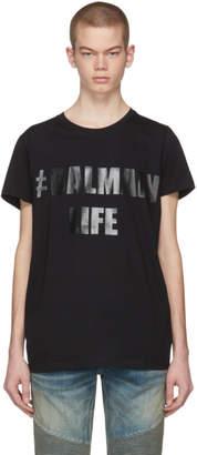 Balmain Black Life T-Shirt
