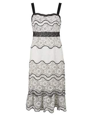 Foxiedox Lumma Tiered Lace Dress Colour: WHITE, Size: LARGE