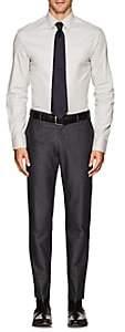 Armani Collezioni MEN'S COTTON FLANNEL DRESS SHIRT-LIGHT GRAY SIZE 15