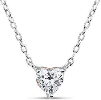 Swarovski FINE JEWELRY Sterling Silver Heart Pendant Necklace featuring Zirconia