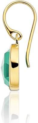 Monica Vinader Siren Bezel Set Onyx Earrings