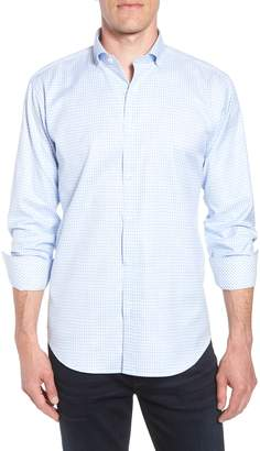 Bugatchi Shaped Fit Gingham Sport Shirt