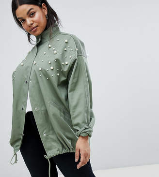 Asos Design Curve Pearl Jacket