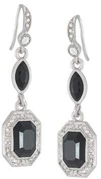 Carolee Royal Redeux Emerald Double Drop Earrings