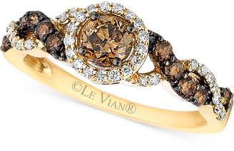 Le Vian Chocolatier® Diamond Ring (3/4 ct. t.w.) in 14k Gold $3,500 thestylecure.com
