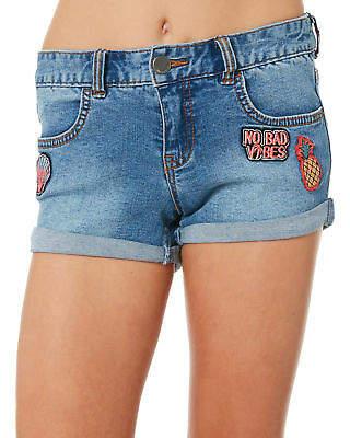 Billabong New Girls Cool Side Short Cotton Fitted Elastane Blue