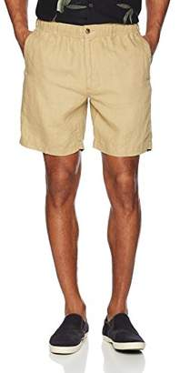 "28 Palms Men's Relaxed-Fit 7"" Inseam Linen Short with Drawstring"