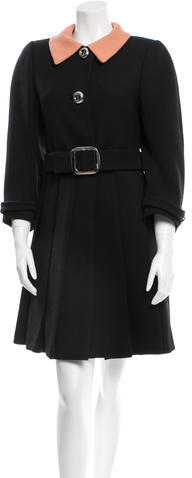 prada Prada Wool Swing Coat