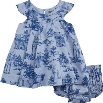 Tea Collection Forest Print Dress