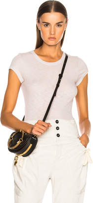 Enza Costa Rib Fitted Cap Sleeve Tee