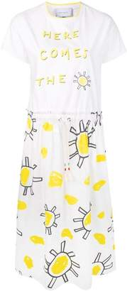 Mira Mikati Here Comes The Sun T-shirt dress