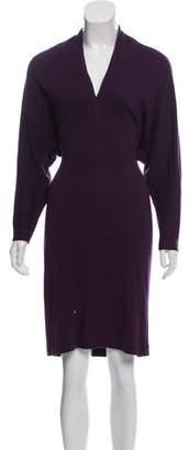 Lanvin Long Sleeve Sweater Dress