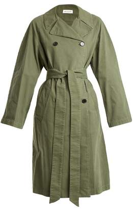 Masscob Double Breasted Cotton Trench Coat - Womens - Khaki