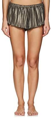 Cosabella Women's Minimalista Plissé Shorts - Gold