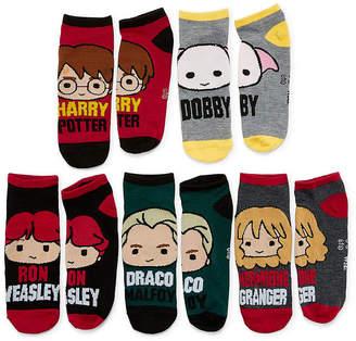 Asstd National Brand 5 Pair Harry Potter No Show Socks - Womens