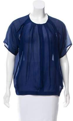Surface to Air Short Sleeve Silk Top