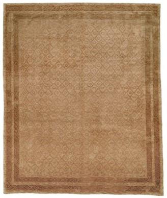 dCOR design Diamond Hand-Knotted Wool/Silk Gold Area Rug dCOR design