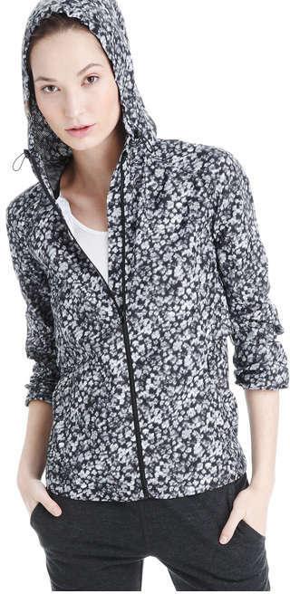 Joe Fresh Women's Floral Running Active Jacket, Black (Size M)