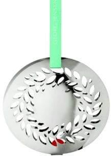 Georg Jensen Palladium-Plated Brass Christmas Mobile Magnolia Wreath Ornament