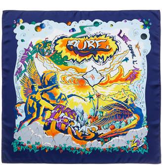 Hermes Aube By Zoe Pauwels Silk Scarf