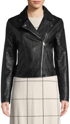Bagatelle Snake-Print Faux Leather Biker Jacket