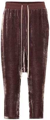 Rick Owens Cropped velvet pants