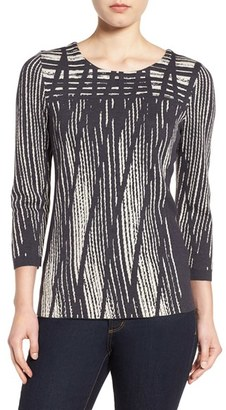 NIC+ZOE 'Dashed Diamonds' Top $148 thestylecure.com