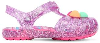 Crocs Glittered Rubber Sandals