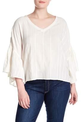 Susina Flutter Sleeve Blouse (Plus Size)