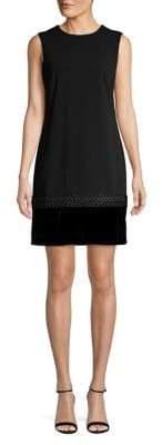 Calvin Klein Textured Sleeveless Shift Dress