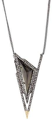 Alexis Bittar Crystal Pyramid Spike Pendant Necklace