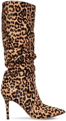 Gianvito Rossi 85mm Leopard Ponyskin Slouchy Boots