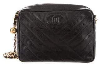 Chanel Caviar Chevron Camera Bag