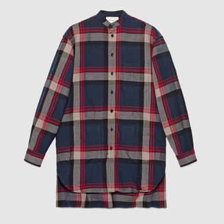 Gucci Check wool oversize shirt