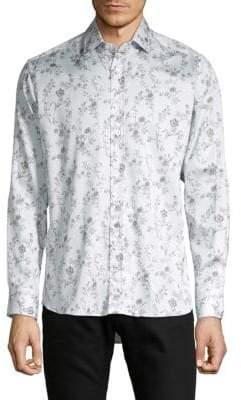 Etro Medallion-Print Cotton Sportshirt