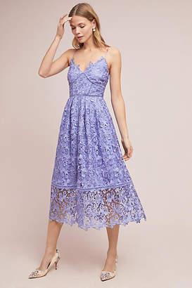 Eri + Ali Sherbert Lace Midi Dress