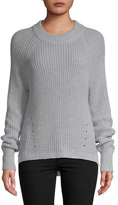 Lord & Taylor Shaker Stich High-Low Sweater