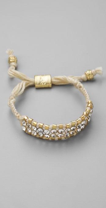 Shashi Double Row Crystal Bracelet