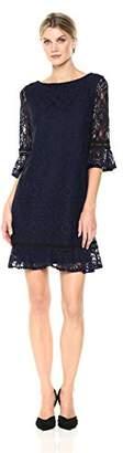 Sandra Darren Women's 1 Pc 3/4 Flutter Sleeve Lace Sheath Dress