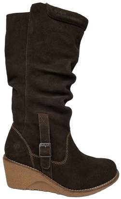 Pajar Women's VALERIE Leather Soft Slouchy Winter Water-Resistant Boot, Wool Lining, Rubber Traction Cemented Wedge Sole, Removable memory foam insole designed for superior comfort