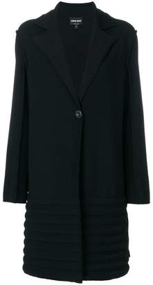 Giorgio Armani textured single breasted coat