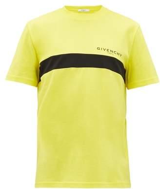 Givenchy Logo Print Cotton Jersey T Shirt - Mens - Yellow